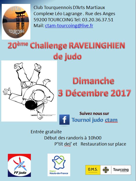 20eme Challenge RAVELINGHIEN de judo le 3 Decembre 2017