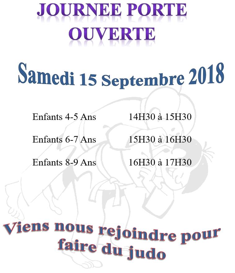 Portes ouvertes Septembre 2018