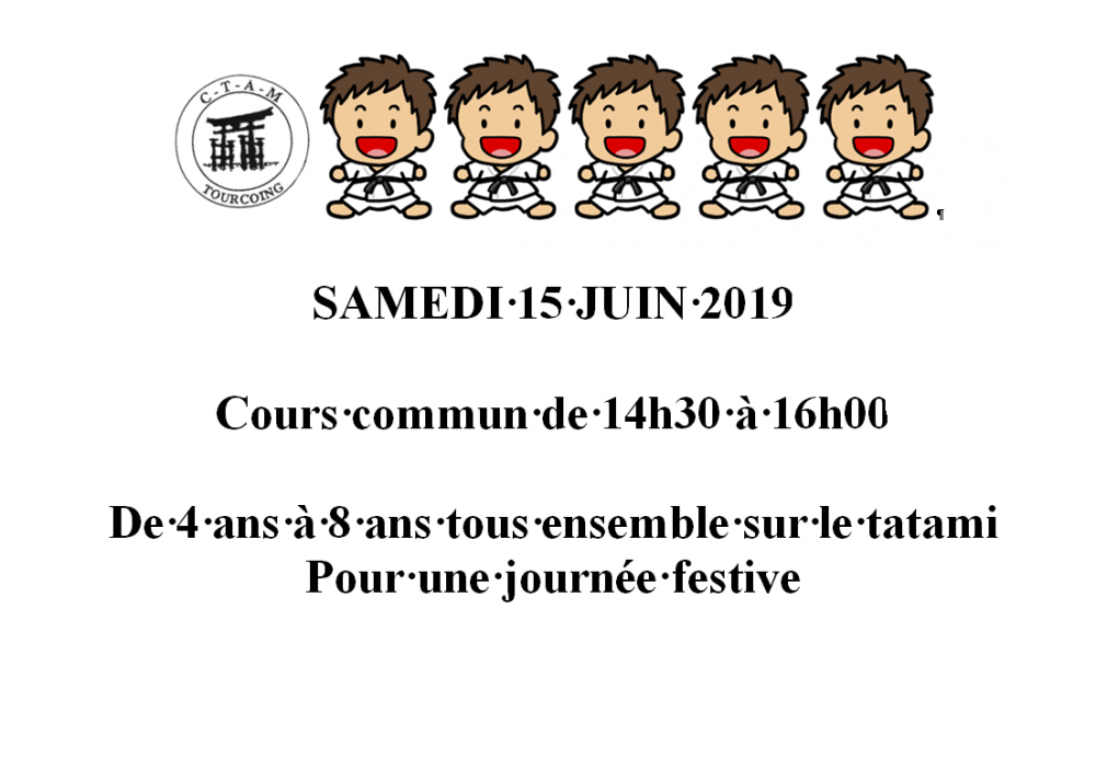 Cours commun judo Alain 15 Juin