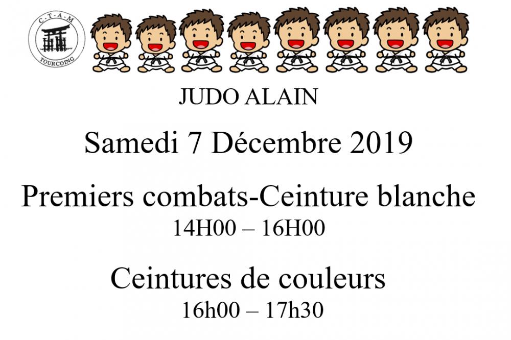 Premiers combats JUDO Alain le 7 Decembre