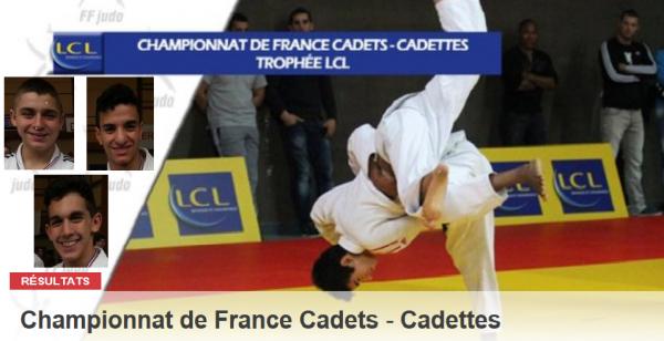 Championnat de France Cadets / Cadettes le 9 et 10 Mars 2013